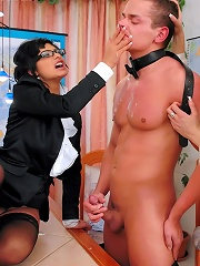 Student Takes Final Exam In Femdom Humilation, Pain And Bondage