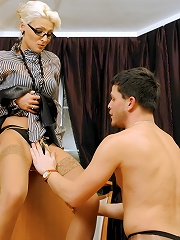 Boss Gets Punished By Femdom Secretary