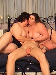 Bbws Hold A Man Down And Ride His Face