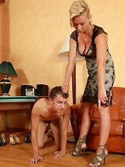 Lady Dominates Servant