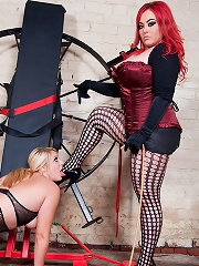 Mistress Jemstone Gets Shay Hendrix On A Wheel For Punishing