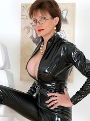 Milf In Skintight Catsuit